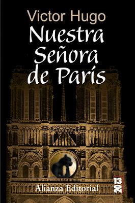 Libro Jorobado de la Catedral Notre Dame Víctor Hugo alianza editorial caratula iglesia de noche