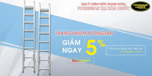 Đại lý thang nhôm Poongsan