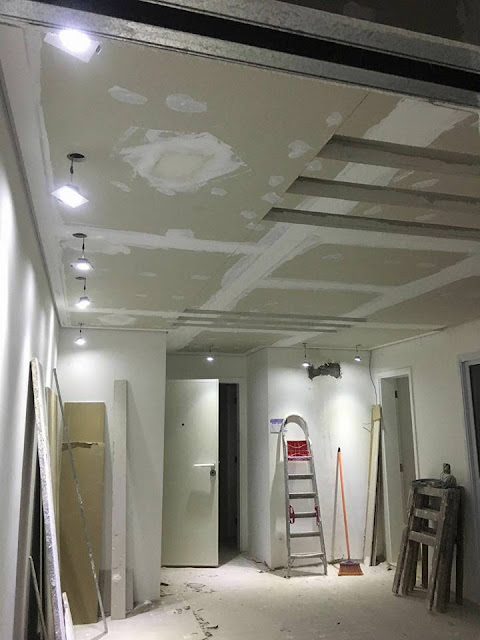 Gesso Drywall forros sancas molduras cortineiros