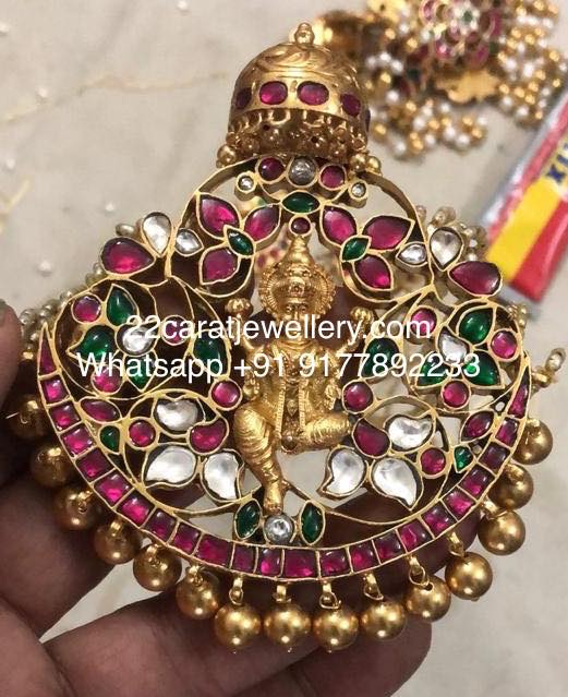 Silver Kundan Black thread Sets