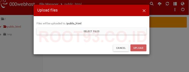 memilih file website