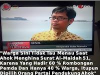Terungkap!! Inilah Pengakuan Warga di Kepulauan Seribu terkait Penistaan Al Quran oleh Ahok