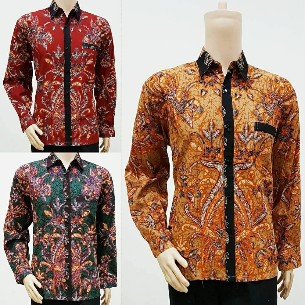 Batik Lengan Panjang Pria Jogja: Batik Modern Pria Lengan Panjang Motif Sisik