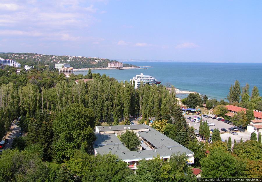 Святые Константин и Елена, Болгария. Вид на север с высоты птичьего полёта