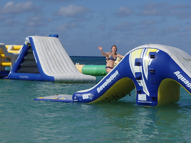 Susan climbing slide