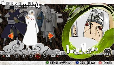 Naruto Shippuden : Ultimate Ninja Impact MOD Texture Itachi [Rikudo Mode]  For PPSSPP Terbaru