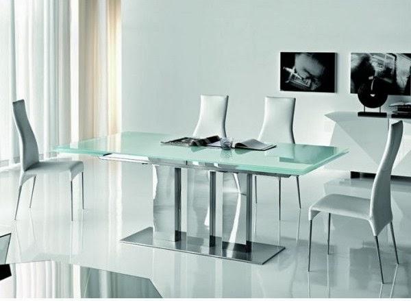 comedor minimalista color blanco