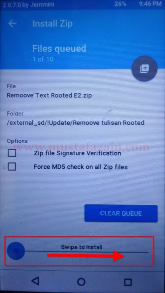 Cara Menghilangkan Tulisan Rooted pada Andromax E2