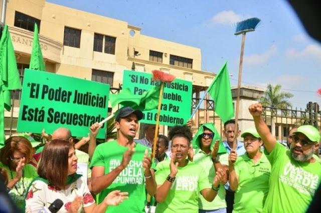 Marcha Verde protesta en Santiago por libertad de Rondón y Díaz Rúa