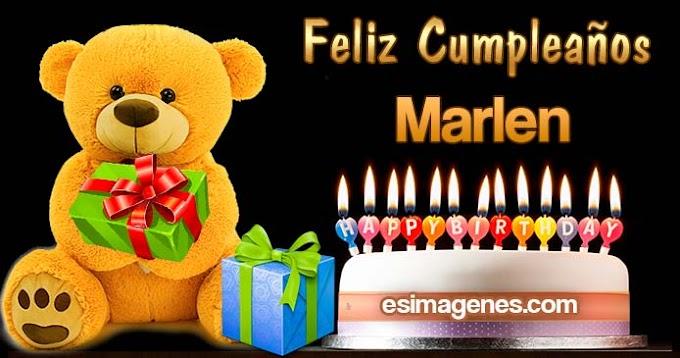 Feliz Cumpleaños Marlen