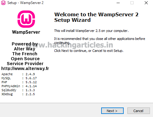 Web Pentest Lab Setup using bWAPP in Windows 10