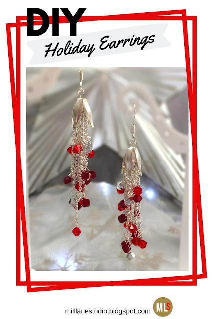 Dangling chains of red crystals