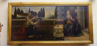 La Anunciación (1472–1475) de Leonardo da Vinci.