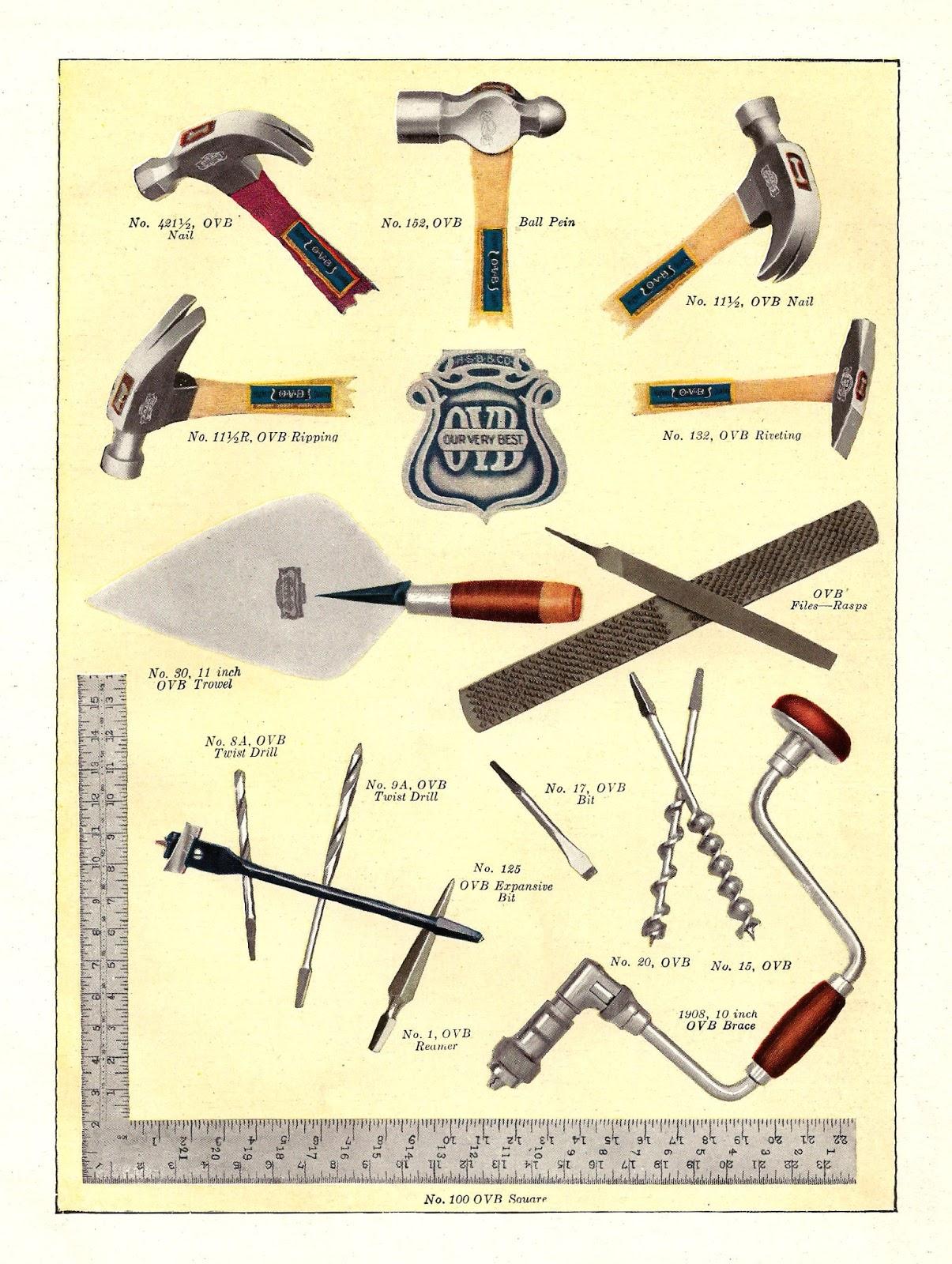 263 Antique Retro Hand Tools Old Vintage Toolbox Photos