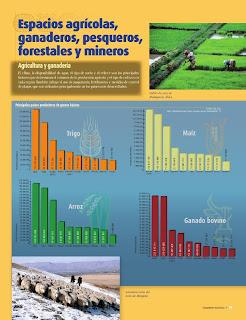 Apoyo Primaria Atlas de Geografía del Mundo 5to. Grado Capítulo 4 Lección 1 Espacios Agrícolas, Ganaderos, Pesqueros, Forestales y Mineros, Agricultura y Ganadería