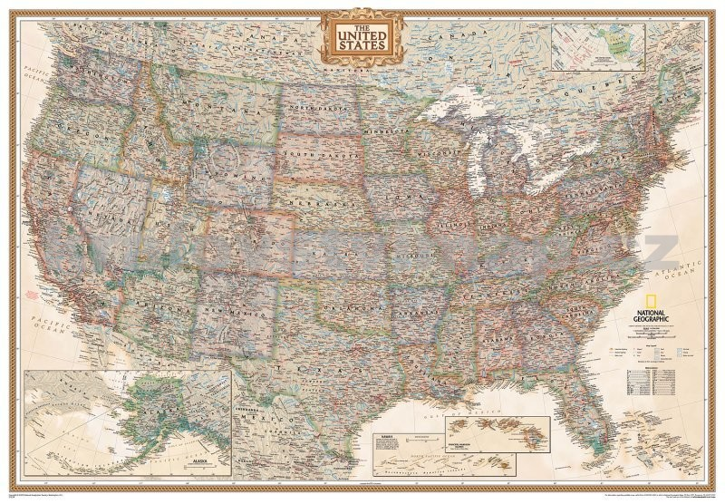 United States Executive Poster Size Wall Map (National Geographic Reference Map)