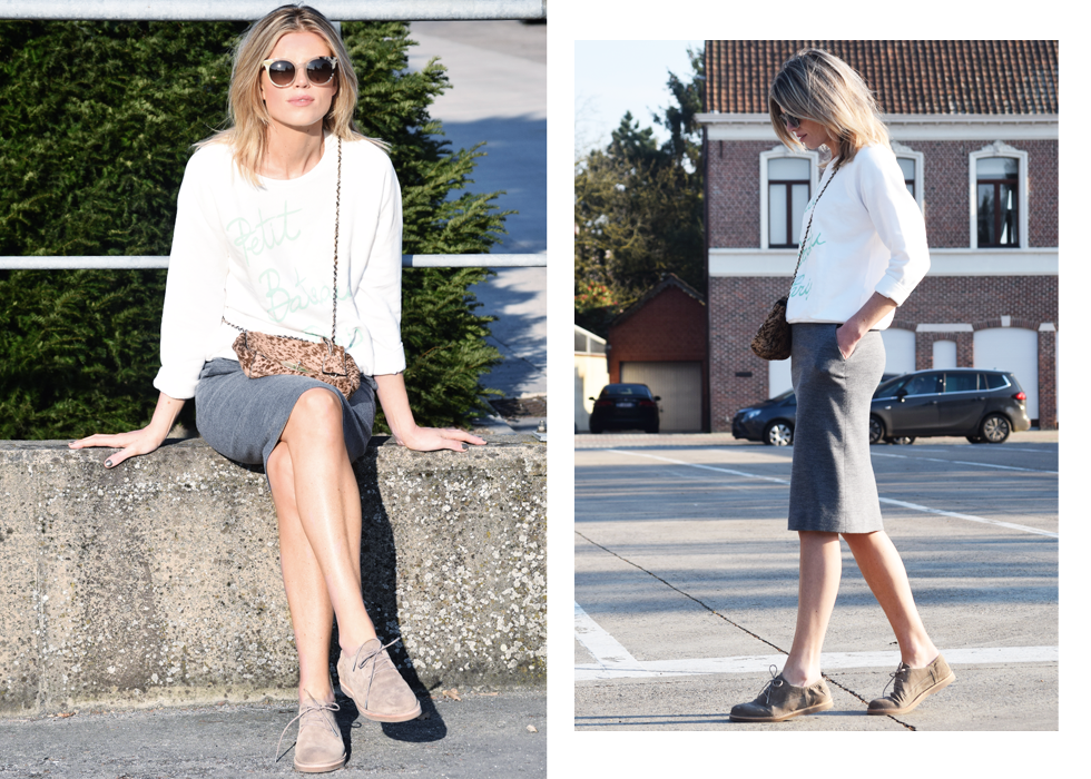 Outfit of the day, Claudie Pierlot, Fendi, Grand Optical, Fred de la Bretonière, Petit Bateau, mulberry, ootd, style, fashion, blogger, pencil skirt, sweater
