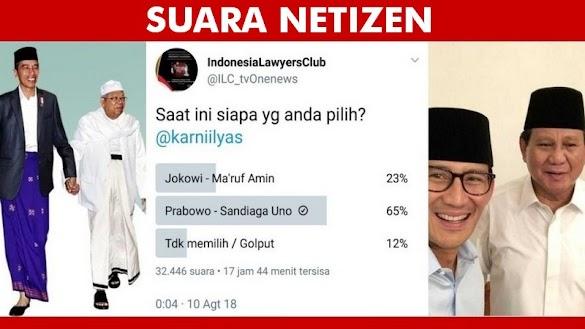 ILC tvOne Bikin Polling, Prabowo Masih Memimpin Tinggalkan Jokowi