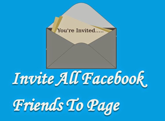 Invite All Friends To Facebook Page