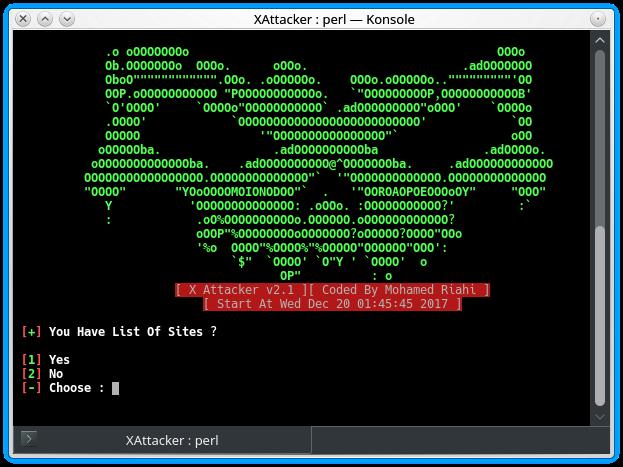XAttacker - Scanner de Vulnerabilidade de Website e Auto Exploiter