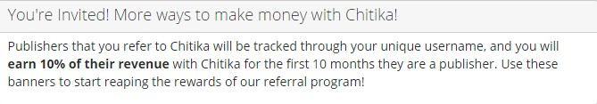 Chitika Referral Programmes