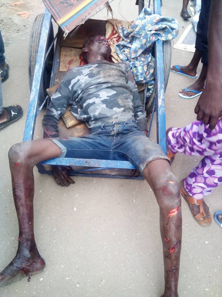 Very graphic: Meet the young man who was killed in broad day light in Lagos street fight