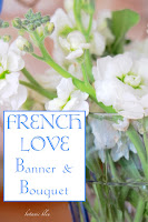 French Love Banner and Bouquet