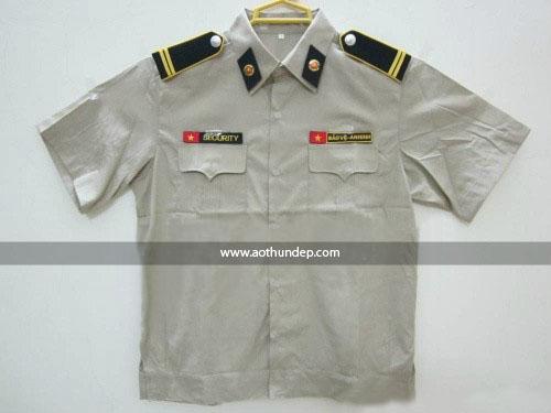 Áo đồng phục bảo vệ màu xám