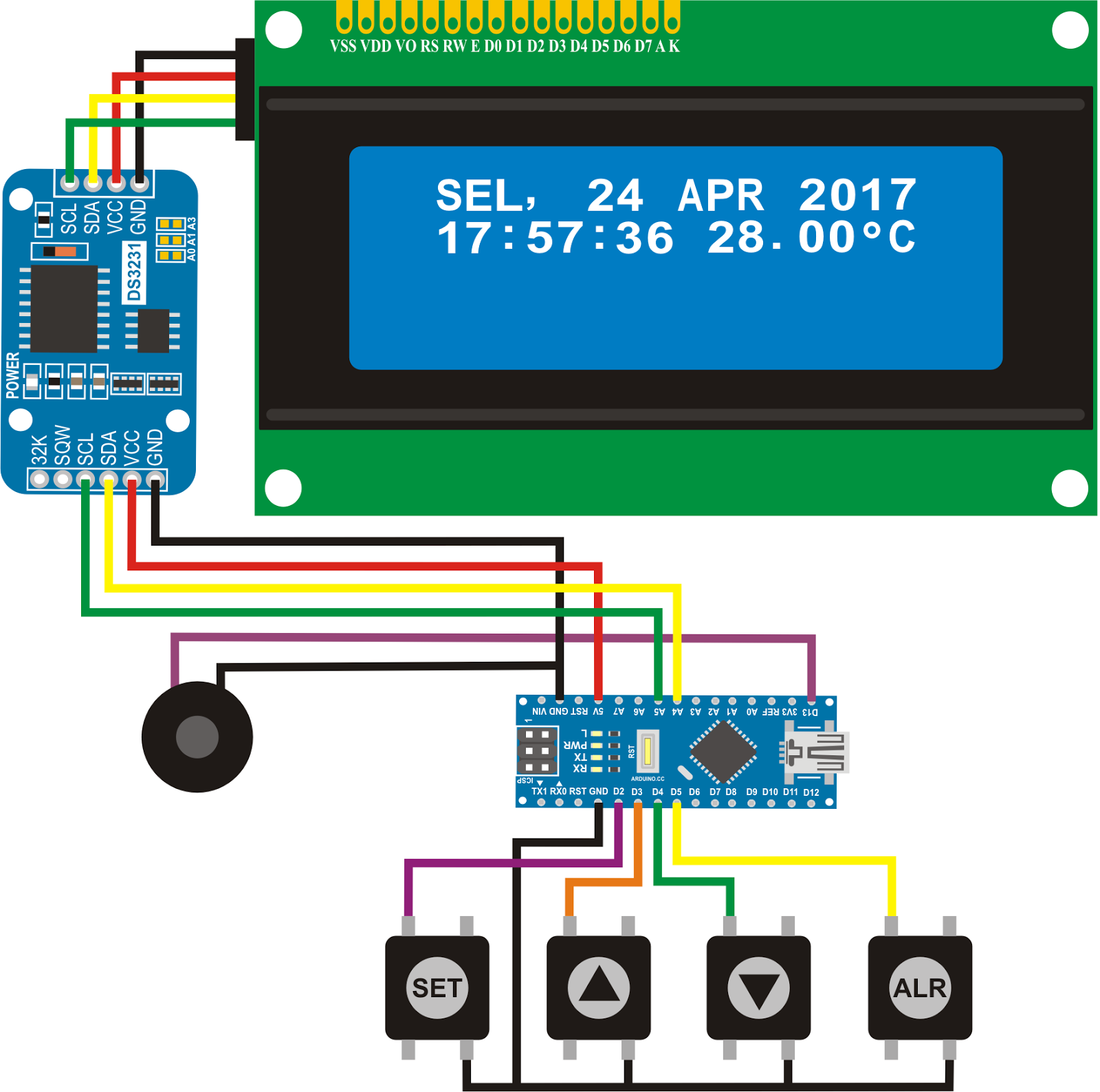 michaelsarduino: DS3231 Real Time Clock