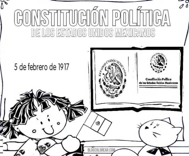 Dibujos Para Colorear Constitución Mexicana Colorear