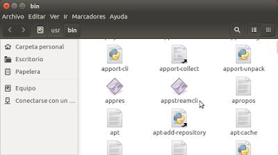 en modo gráfico el archivo appstreamcli