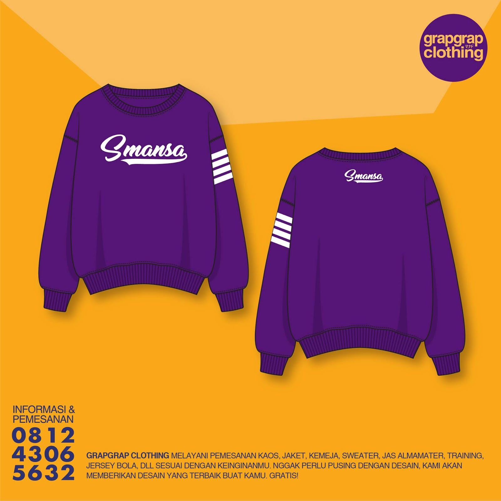 Beking Sweater Murah Manado Perfect Quality - Model Sekolah