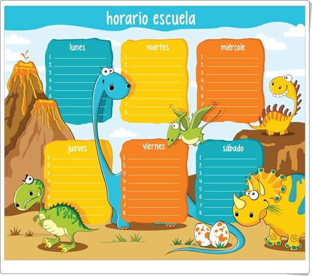 """""""Horarios de dinosaurios"""""""