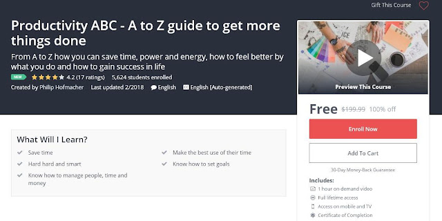 Productivity ABC - A to Z guide to get more things done