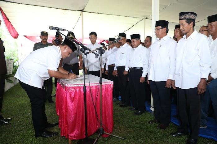 144 Badan Permusyawaratan Desa (BPD) Dikukuhkan, Nanang Harap Kepala Desa Beserta BPD Saling Bersinergi.