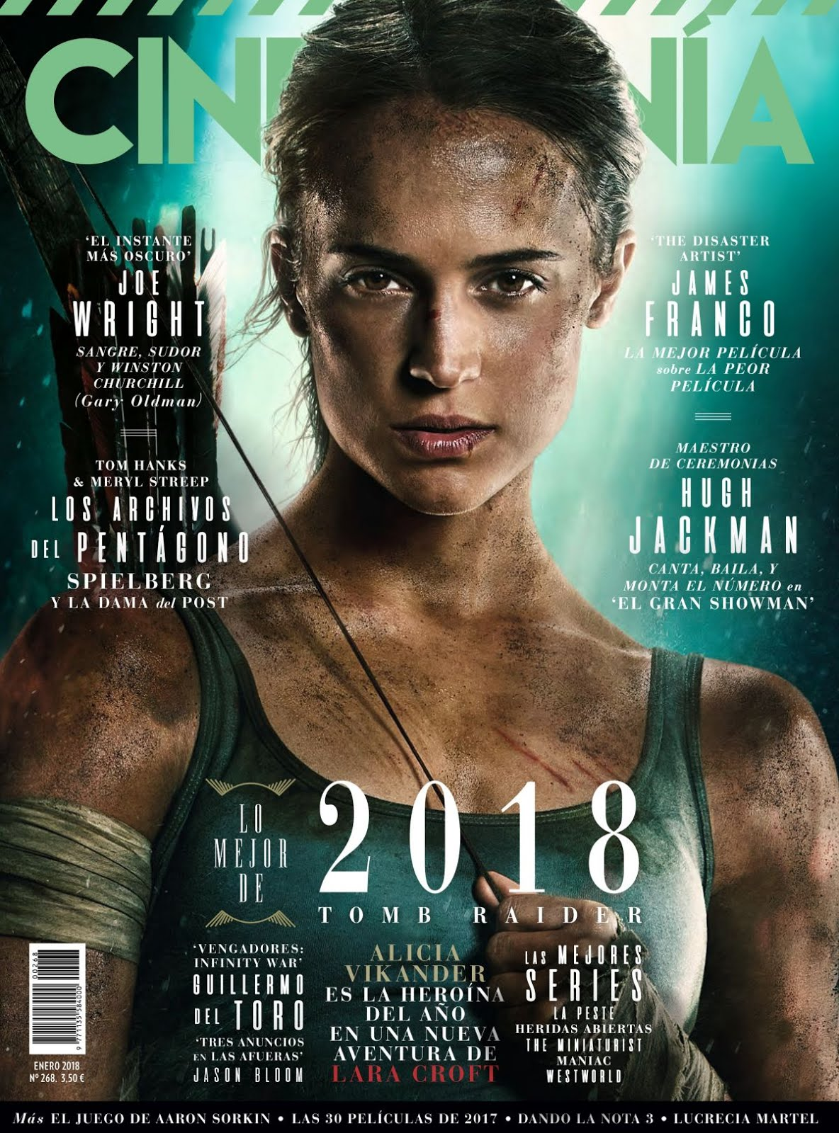 Photo Shoot of Tomb Raider actress Alicia Vikander In Cinemania Magazine January 2018