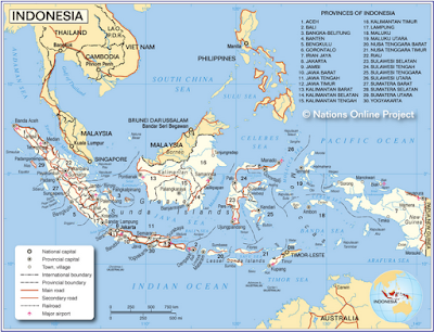 peta Indonesia map maps province