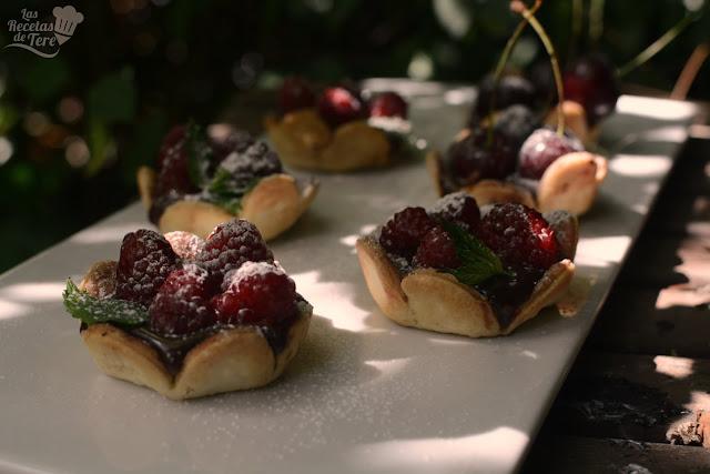 Tartaletas de frutos rojos y chocolate las recetas de tere 07