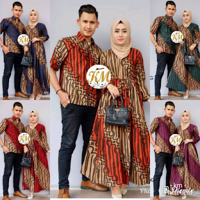 Contoh Baju Couple Baju Gamis Batik Busana Muslim Terbaru 2018 Batik Pattern Motif Parang