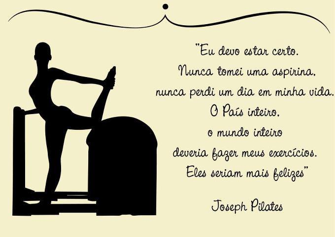Favoritos PERSONNALITË STUDIO E PILATES: Frase de Joseph Pilates IZ79