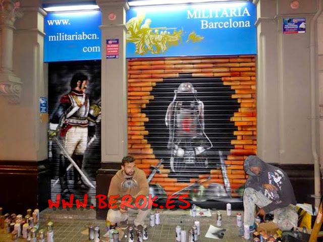 Graffiti Militaria Barcelona