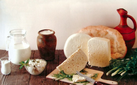 Georgian food:  cheese