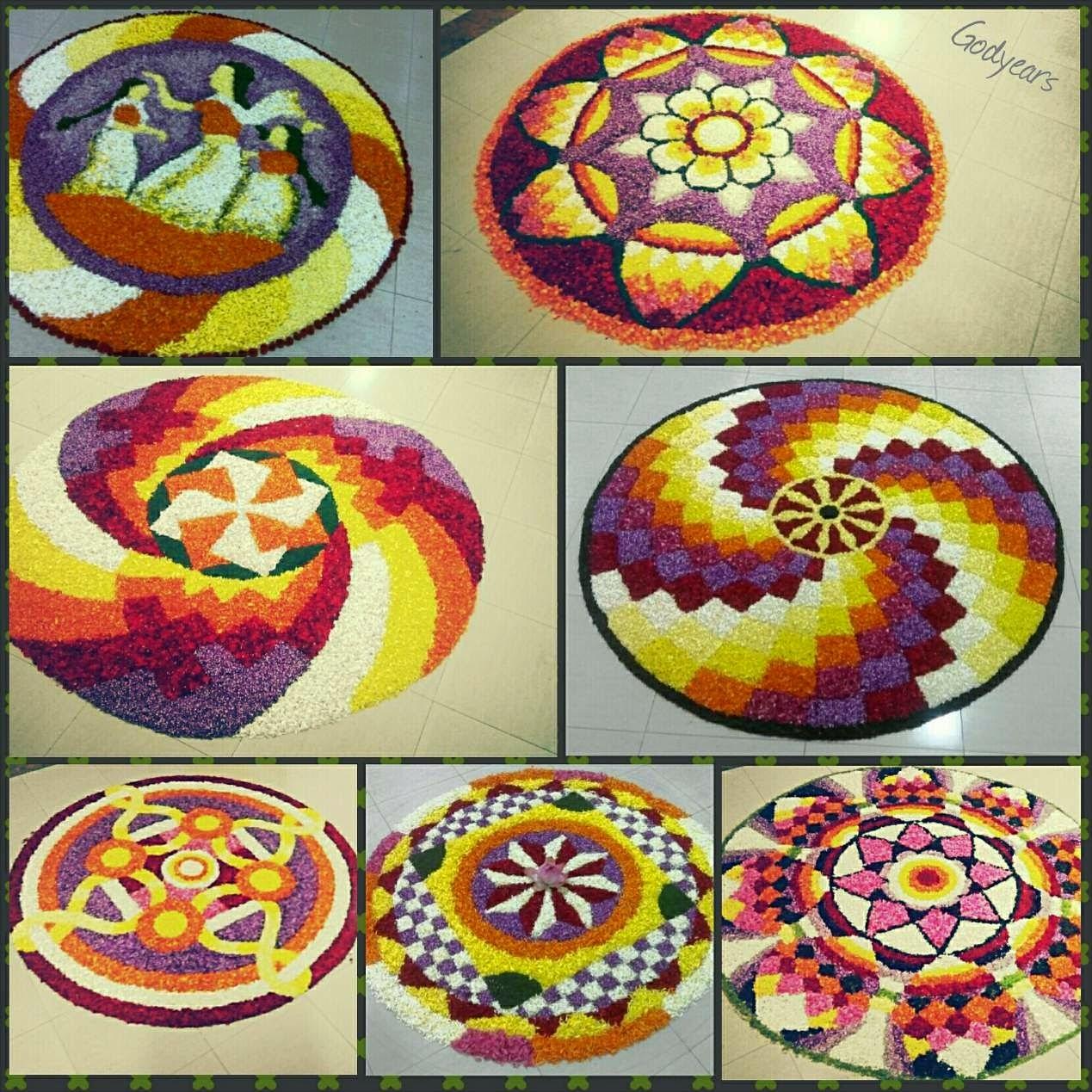Mahabali Kerala Flower carpets Onam