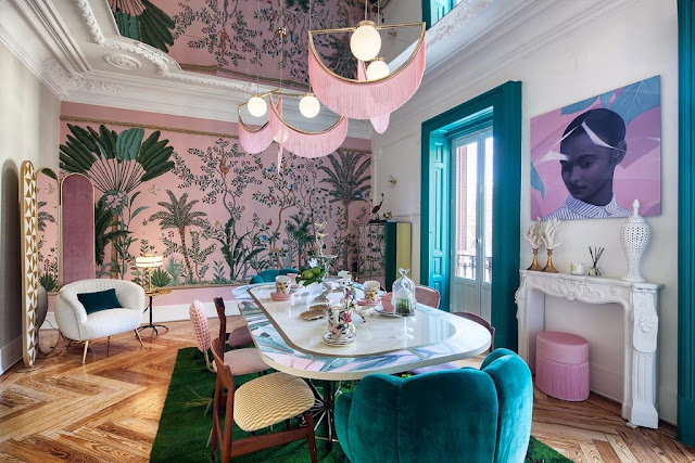 Tropical dining room by Virginia Gasch