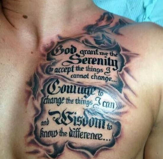 50 Chest Quote Tattoo Designs For Men: 50 Inspirational Tattoo Quotes For Men To Try (2018