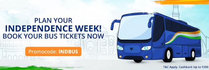 Paytm Bus Ticket Offer : Get 100% Cashback on First Bus Ticket Booking (Max Rs.100 CB) (Loot)