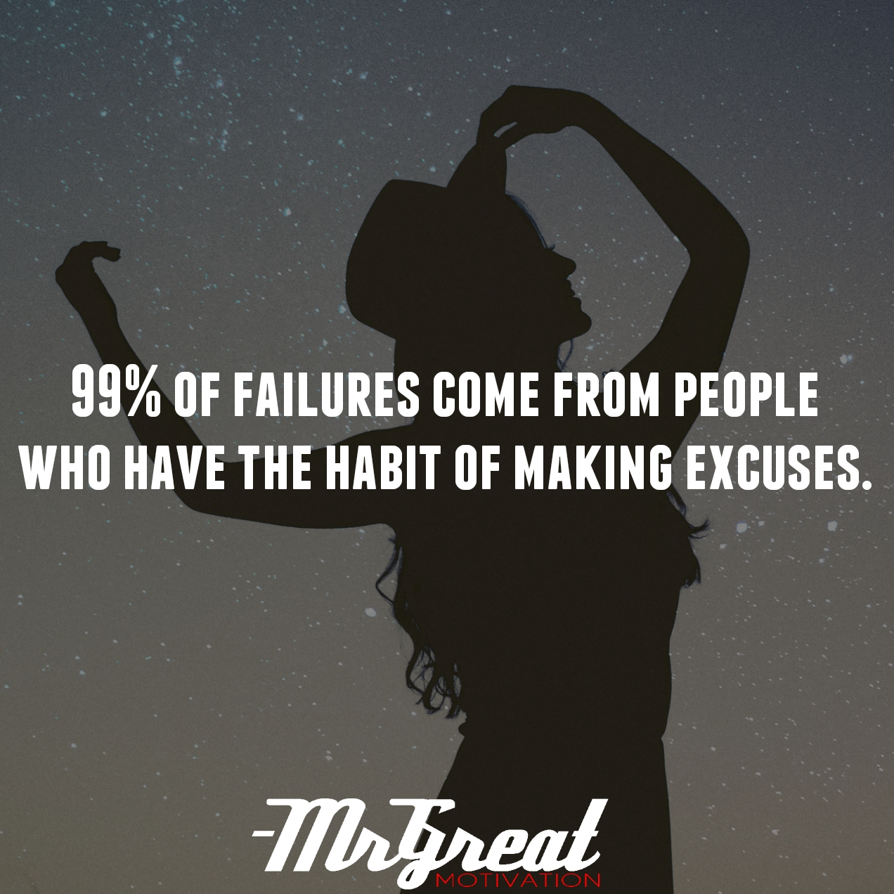 99% of failures come from people who have the habit of making excuses - George W. Carver