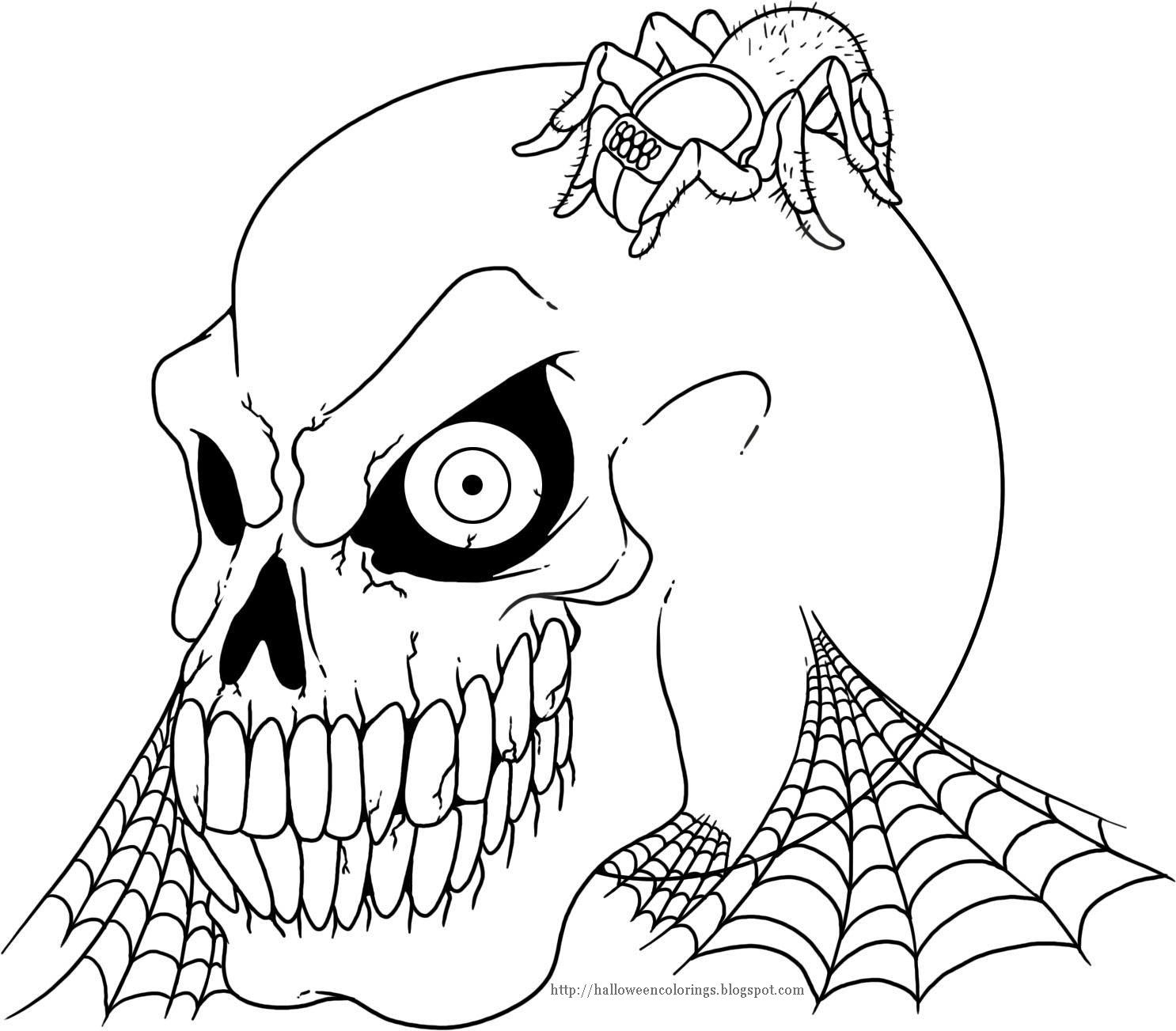 Moderno Libre De Miedo De Halloween Para Colorear Galera Dibujos