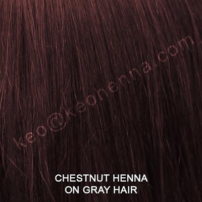 Chestnut Henna Hair Color On Gray Hair