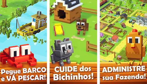 Blocky Farm. Os melhores jogos de fazenda
